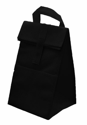 Non Woven Insulated Cooler Lunch Bag, Black by BAGS FOR LESSTM - 1