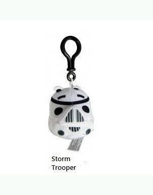 Angry Birds Star Wars Plush Backpack Clip - Storm Trooper
