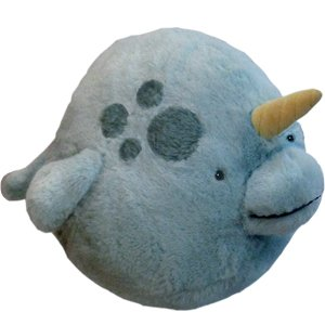 "Squishable Narwhal 15"" Plush Toy"