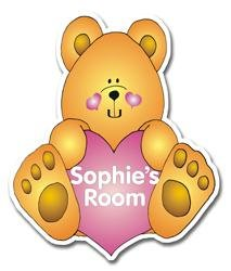 Personalised Love Bear Door Plaque
