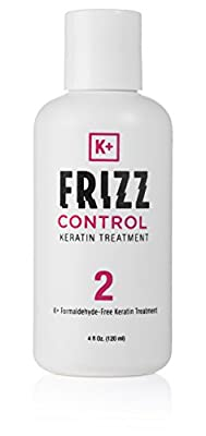 Keratin Treatment - LOWER PRICE! Discover the Best Solution for Incredible Hair Straightening. Formaldehyde Free, Paraben & SLS Free. Safe for Home Use 4 Oz 100% No Frizz Guarantee - K+ Frizz Control