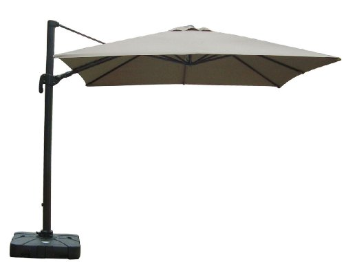 Nice Pic Of Strong Camel Cantilever Alu. Patio SPA Pool Side Umbrella  10u0027x10u0027 Heavyduty Outdoor Sunshade Taupe