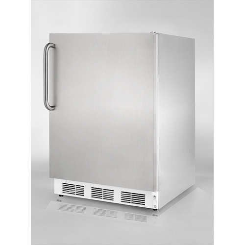 Summit Commercial 5.5 cu. ft. Free Standing or Under Counter All-Refrigerator in Complete Stainless