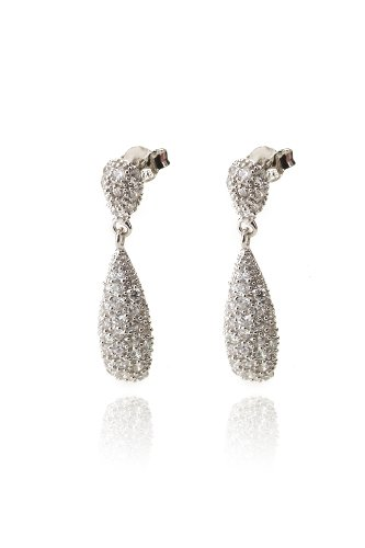 Sterling Silver Dangling Drop Earrings