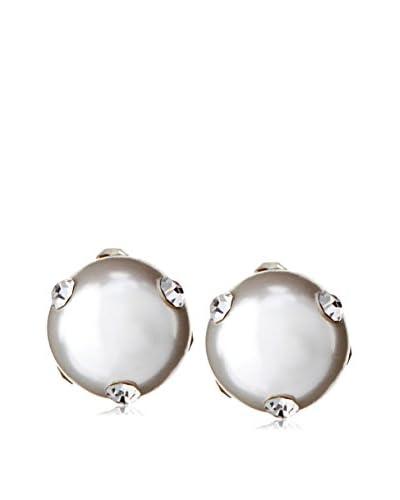 Chloe & Theodora Pearl with CZ Embellishment Stud Earrings