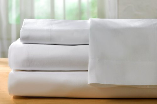 HotelSheetsDirect 4-Piece 1600-Thread-Count Microfiber Queen Bed Sheet Set, White (California Queen Sheet Set compare prices)