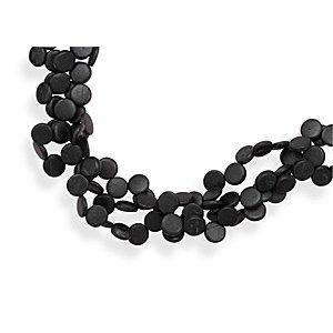 Triple Strand Coco Wood Bead Fashion Necklace - JewelryWeb