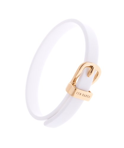 Ted Baker Brette White Narrow Belt Buckle Bangle