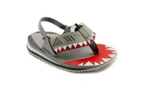 Cheap Cobian THE SHARKY Toddler Sandals in Grey (B000ZD1U2O)
