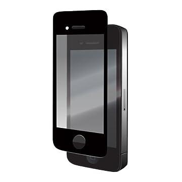 iBuffalo 【絶対気泡ができない】 iPhone4S/4 両対応 液晶保護フィルム/光沢タイプ ブラック BSEFGIP4BK