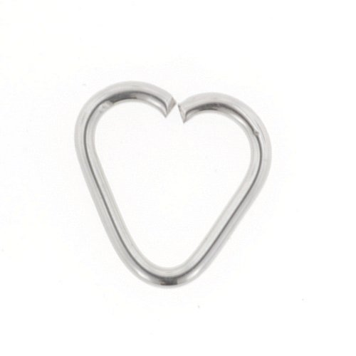 Stainless Steel Continuous Heart Shaped Ring: 18g 5/16