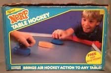 Official Nerf Table Hockey Vintage 1987 80's