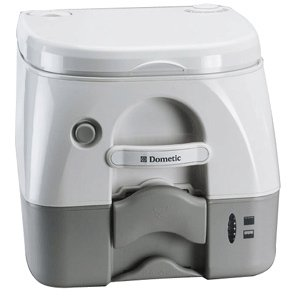 Dometic SeaLand 974MSD Portable Toilet 2.6 Gallon Grey w/Brackets (Dometic Plastic Toilet Seat compare prices)
