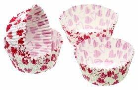 Sweetly Does It unidades Eighty diseño de corazones rojos Petit envase/Treat fundas de