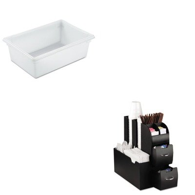 KITEMSCAD01BLKRCP3500WHI - Value Kit - Rubbermaid-White Food Boxes; 12 1/2 Gallon 12 1/2 Gallon (RCP3500WHI) and Ems Mind Reader Llc Coffee Organizer (EMSCAD01BLK)