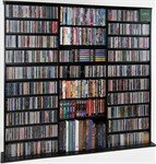 Image of Leslie Dame CDV-1000BLK Black Multimedia Storage Rack (B007K5FX9Q)