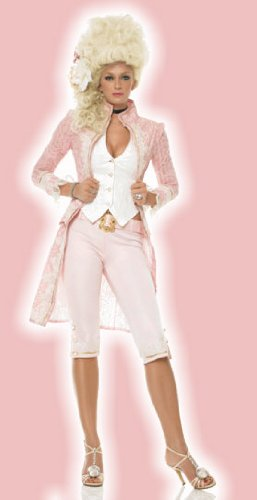 Women's 3PC Lady Marie Antoinette Sexy Holiday Party Costume (Pink/Ivory;Small)