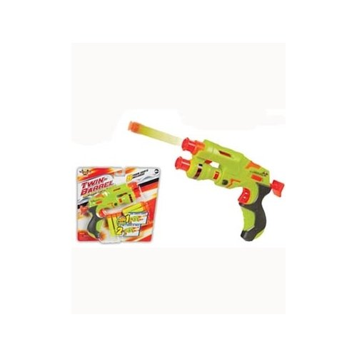 ToySmith Total X Stream Twin-Barrel Foam Dart Shooter (Colors May Vary) Novelty