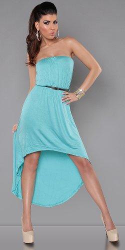 Sexy KouCla Vokuhila-Kleid Tanzkleid mit Gürtel in vielen Farben erhältlich
