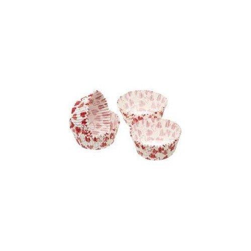 Kitchen Craft - Capsulas Cupcake Corazones, Color Blanco y Rojo, 60 Unids