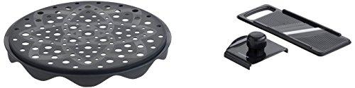 Mastrad F64664 Coffret TopChips Edition Limitée Cuit-Chips/Mandoline Noir Fumé