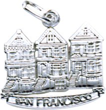 Rembrandt Charms San Francisco Victorian Charm, 14K White Gold
