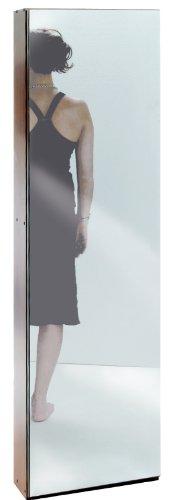 Valdomo Mirror Scarpiera Anta a Specchio, Legno, Noce, 50x18x180 cm