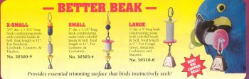 Buy Pollys Pet Products Better Beaks for Birds Size Small 1 x 1.5in