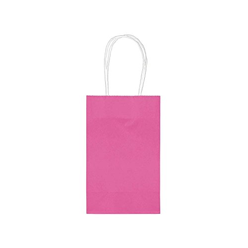 "Amscan Birthday Party Cub Bag Value Pack, 8-1/2 x 5-1/4 x 3-1/2"", Bright Pink"