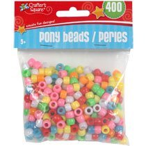 Crafter's Square Pony Beads 400 Count Assorted Colors - 1