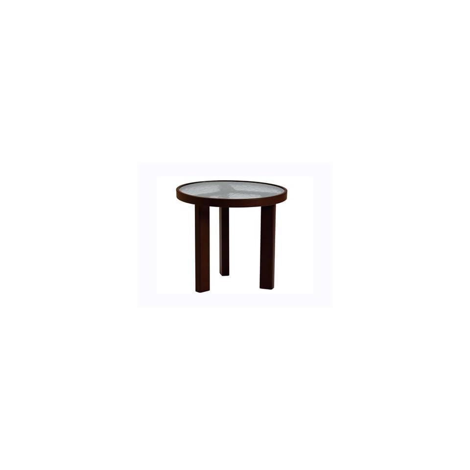 & Glass Cast Aluminum 20 Round Patio Coffee Table