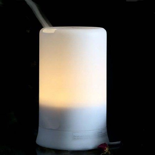 Signstek 100ML Pure White Ultrasonic Aroma Diffuser Humidifier Air Purifier Mist Automatic LED Colour Changing & 4 Timer Settings
