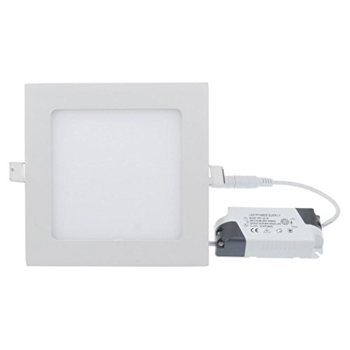 Lemonbest Dimmable 9 Watts Led Panel Light Square Recessed Downlight Fixture Kit Pure Cool White