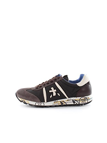 PREMIATA LUCY 1649 BLACK WHITE SNEAKERS Uomo BLACK WHITE 40