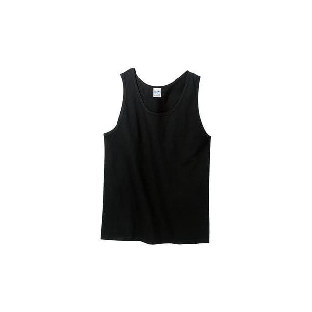 Gildan Ultra Cotton Tank Top Shirt   Black