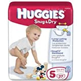 Huggies Snug & Dry Diapers, Size 5 (Case of 4)
