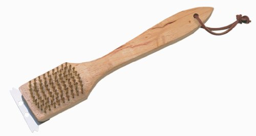 Char-Broil 2785028 Wooden Handle Grill Brush