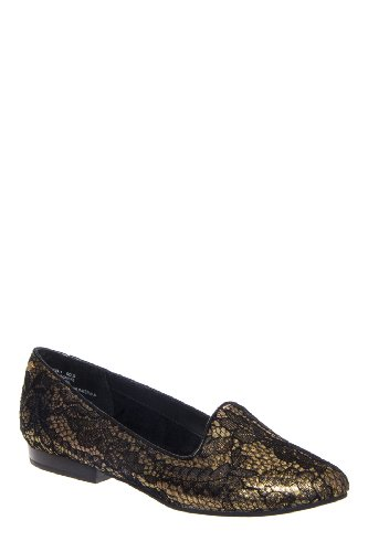 Bass Geneva Lace Print Smoking Slipper Loafer