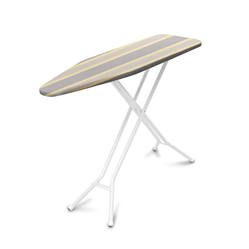 Homz Premium 4-Leg Ironing System, 53.9 x 14.4 x 36.5 Inches, Almond Leg  with Cream Stripe Cover (Ironing Board System compare prices)