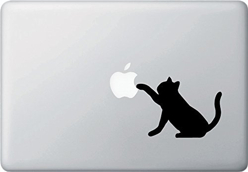 Cat Playing With Apple - Macbook or Laptop Decal[並行輸入品]Macbook 対応 アートステッカー ネコ ステッカー デカール 車 PC パソコン