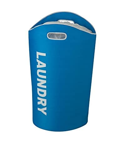 Honey-Can-Do Laundry Bin Tote, Blue