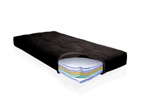 American Furniture Alliance Day Dreamer Premier 6000 Full Futon Mattress, Black