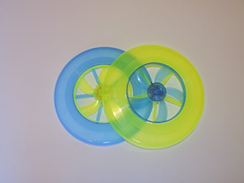 Turbo Flying Disc with Fan - Fun For All Ages! Set of 2 (Color May Vary) - 1