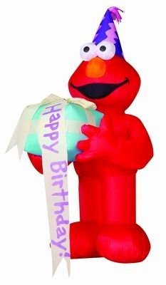 Airblown Inflatable 4 Ft Tall Elmo Birthday