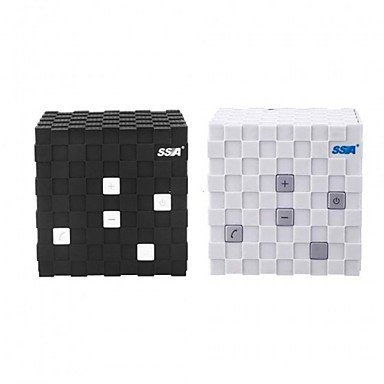 Gjy Ssa Mini Creative Magic Cube Shape Wireless Bluetooth Speaker Support Handsfree , Black