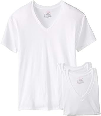 Hanes Men 39 S 3 Pack V Neck T Shirt Clothing