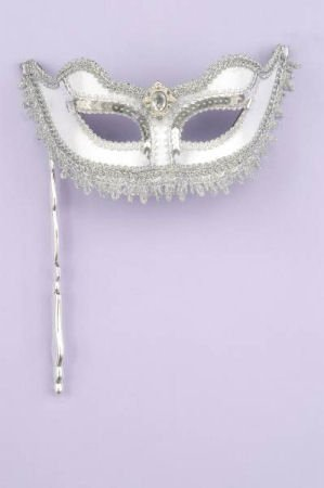 Silver Venetian Mask Fun for Renaissance Costumes and Mardi Gras as well!