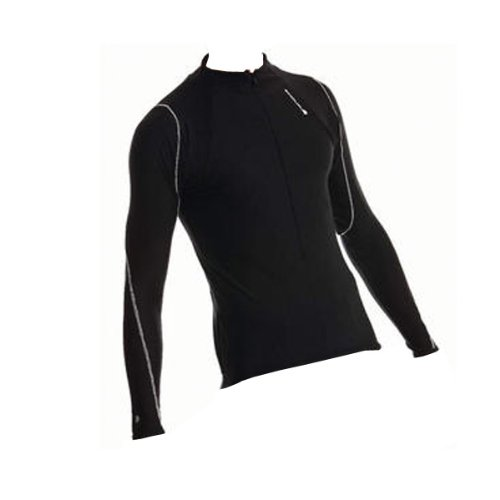 Buy Low Price ENDURA Endura Xtract Zip Neck Jersey 2012 Large Black (E7101/5)