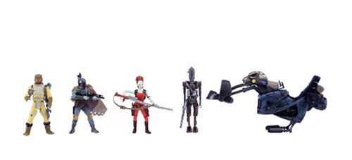 Star-Wars-Saga-Ultimate-Bounty-Action-Figure-Set-with-4-Figures-Aurra-Sing-Bossk-IG-88-and-Boba-Fett-Swoop-Bike-and-6-Weapon-Accessories