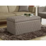 Metro Rectangular Storage Ottoman, Brown Dot